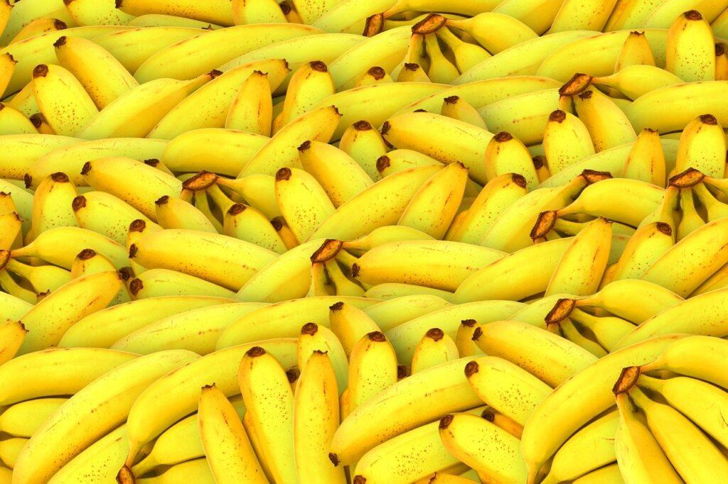 Bananas amarelas vistas de cima
