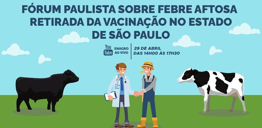 Fórum Paulista debate retirada da vacinação contra febre aftosa em SP; inscreva-se aqui