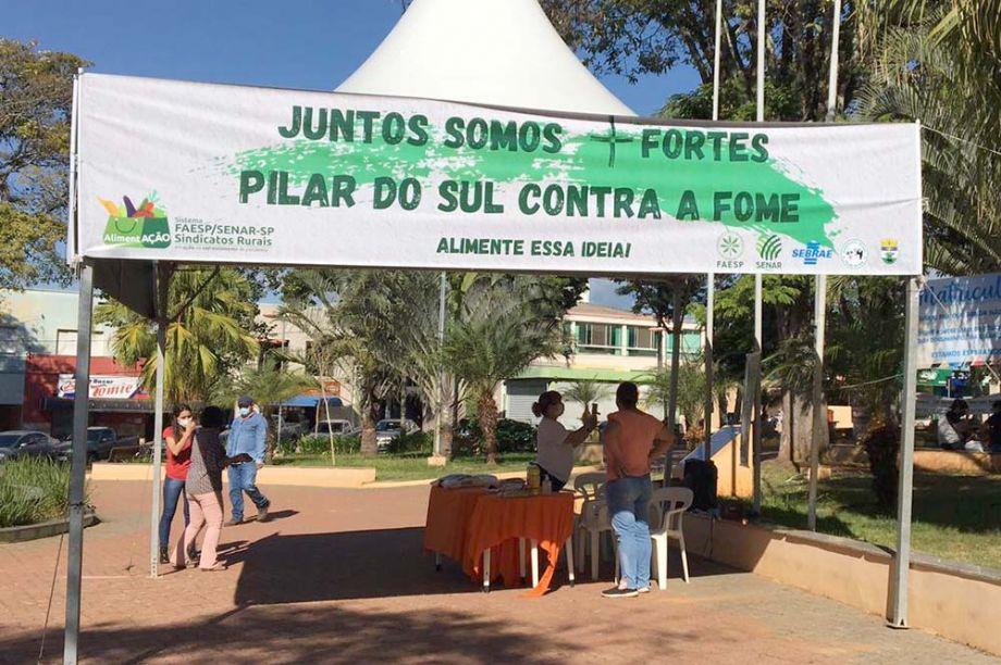 Projeto do SENAR-SP realização doação de alimentos no interior paulista
